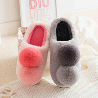 情侣棉拖鞋冬季女士室内居家地板厚底防滑可爱包跟软底毛毛保暖鞋