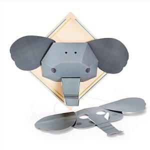 【特惠】HapeDIY立体折纸画 大象 小狗 狮子 小猪3岁以上绘画手工