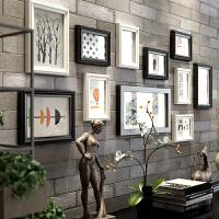 照片墙相框墙一面墙装饰客厅创意墙上相框挂墙组合连体挂相片框 A款 9141 黑白两色