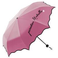 伞防晒防紫外线女神太阳伞小清新折叠女遮阳伞黑胶晴雨伞两用