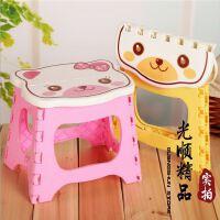 150kg大号卡通凳子 折叠凳 小猫便携式排队塑料凳 儿童凳塑料凳子