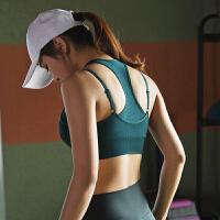 高��度防震�\��纫屡�跑步背心瑜伽健身文胸罩聚�n定型防下垂bra