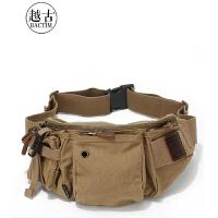 腰包帆布包男士胸包单肩户外休闲运动包多功能潮流斜挎男包包SN3246