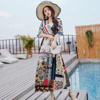 民族风女装长裙夏季波西米亚连衣裙海边海滩度假沙滩裙 图片色