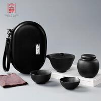 家用简约泡茶壶套装便携包旅行快客杯一壶二杯小罐茶陶瓷功夫茶具