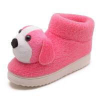 棉拖鞋女包跟冬季室内厚底带后跟儿童保暖冬天毛毛加绒居家用棉鞋