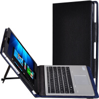 惠普Elite x2 1012皮套G1键盘保护套12英寸笔记本电脑包壳 荔枝纹系列-黑色