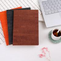 笔记本文具商务定制记事本a5复古皮面手账本办公用品工作日记本子