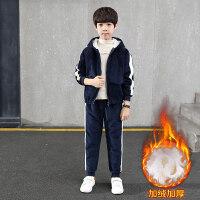童装男童套装冬装2018新款儿童中大童韩版加绒加厚秋冬两件套潮衣