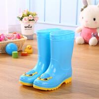 儿童雨鞋可爱防滑大童加绒保暖小学生中筒雨靴男女童水鞋套鞋 26 内长17厘米