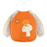 秋冬宝宝罩衣婴儿反穿衣倒褂儿童吃饭围裙吃饭衣护衣围兜{}xx 90# 衣长43CM 24-36个月
