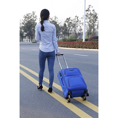 牛津布24寸行李箱学生万向轮拉杆箱男女28寸帆布密码箱包26寸托运箱子 蓝色升级连体提手 刹车+减震 发货周期:一般在付款后2-90天左右发货,具体发货时间请以与客服协商的时间为准