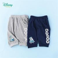 【99元3件】迪士尼(Disney)童装 男童裤子夏季新品纯棉七分裤男宝宝时尚休闲裤