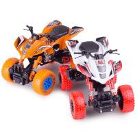 铭源 1:32仿真前后回力带弹簧避震攀爬合金车 儿童酷炫摩托车玩具