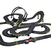 轨道赛车电动玩具轨道车遥控跑道大型双人手摇赛道小汽车儿童男孩 抖音