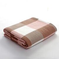 全棉纱布毛巾被 田园格子毛巾空调毯休闲毯单人双人夏凉被