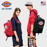Dickies潮牌经典彩色LOGO女男学生背包纯色书包C028大容量双肩包