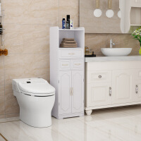 卫生间置物架落地洗手间浴室厕所储物收纳柜防水用品马桶边柜侧柜