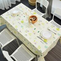 清新餐桌布PVC塑料防水防油防烫免洗台布餐厅长方形茶几桌垫