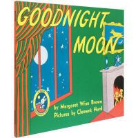 英文原版绘本 Goodnight Moon 月亮晚安 廖彩杏书单 吴敏兰推荐 低幼儿童英语启蒙认知读物 晚安故事书 亲