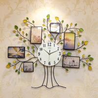 夜光客厅现代欧式挂钟创意墙钟静音相框钟表卧室时尚装饰挂表