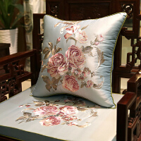 中式刺绣红木沙发坐垫仿古实木家具圈椅垫加厚罗汉床海绵座垫定制