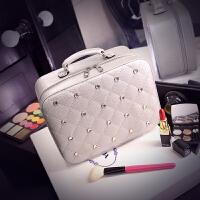 化妆包小号便携韩国简约大容量旅行带镜子化妆品收纳包化妆箱手提