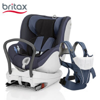 britax宝得适儿童安全座椅0-4岁双面骑士+婴儿背带