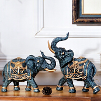 家居饰品客厅酒柜摆件装饰品大象欧式房间电视柜摆设室内软装书柜