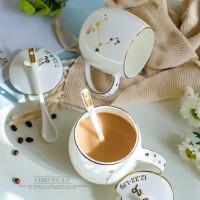 创意十二星座陶瓷杯带盖带勺 马克杯情侣水杯骨瓷牛奶咖啡杯子定制