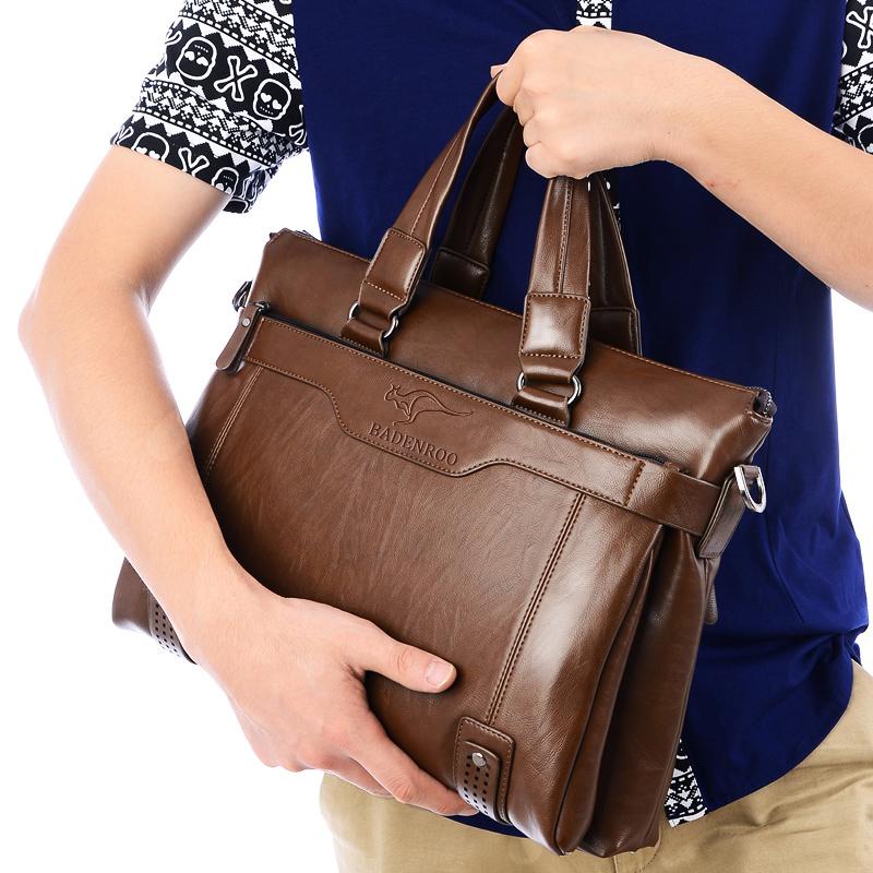 男包横款真皮商务公文包头层牛皮斜挎单肩男士电脑包手提包包