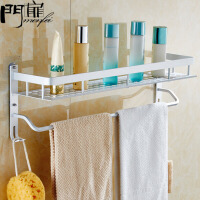 门扉 浴室置物架 卫生间置物架壁挂浴室洗手间吸壁式免打孔厕所吸盘式收纳整理架