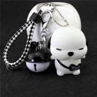 韩国创意卡通可爱汽车钥匙扣男女生肖钥匙链小猪叮当猫铃铛挂件