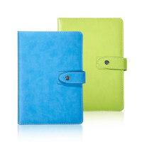 博文商务皮面记事本办公会议记录笔记本文具随身日记本工作本定制