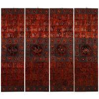 桃木木雕四象大壁饰挂件方形百福背景墙工艺品浮雕装修复古文化墙