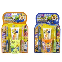 啵乐乐韩国进口漱口4件套儿童牙具套装