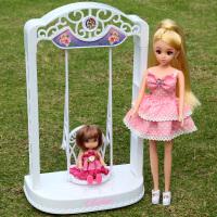 乐吉儿芭比洋娃娃公主套装大礼盒永动秋千过家家儿童女孩生日玩具