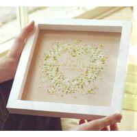 DMC十字绣套件新款客厅卧室3D珠绣刺绣结婚纪念绿色的心印花挂画