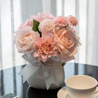 现代仿真花客厅家居摆设盆栽套装饰品摆件室内餐桌茶几干花假花
