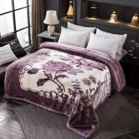 拉舍尔毛毯被盖毯冬季 加厚双层拉舍尔盖毯 婚庆超柔保暖单双人被子绒毯子毛毯定制! 200*230cm 7斤