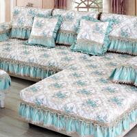 欧式四季通用型布艺沙发垫坐垫定做123组合全包�f能套罩巾