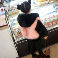 2018新款韩版男童外套冬装女童小大童毛毛棉衣上衣宝宝皮草毛毛衣