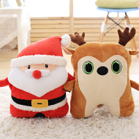 圣诞老人暖手抱枕插手手捂毛绒玩具公仔圣诞玩偶萌可爱女生礼物50cm