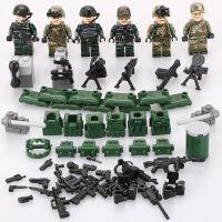 兼容乐高战争军事特种兵人偶城市警察穿越火线模型男孩子积木玩具