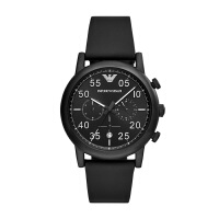 阿玛尼(Emporio Armani)手表皮制表带时尚休闲简约石英男士腕表AR1970