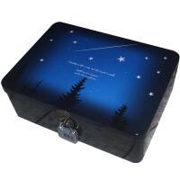 物有物语 带锁收纳盒 密码铁盒子礼物盒复古大号桌面收纳整理储物盒