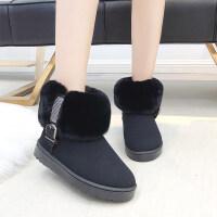 雪地靴女冬季新款韩版学生百搭平底加绒保暖棉鞋防滑短筒靴子
