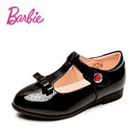 芭比女童皮鞋镂空高跟鞋2017春秋新款儿童公主鞋小女孩韩版休闲鞋