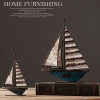 美式北欧复古帆船摆件家装软装家居装饰品客厅酒柜玄关卧室书房样板房间创意船摆件