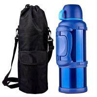 不锈钢保温壶户外大容量车载旅行水壶杯家用大号暖壶热水瓶4L